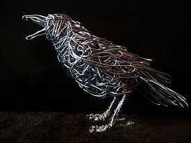 Carrion Crow - Galvanised steel