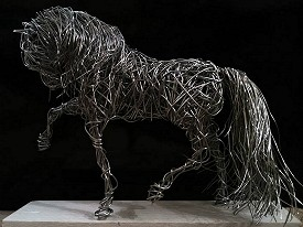 Horse - Galvanised steel wire