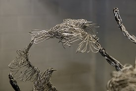 Aluminium wire tree with stainless steel wire starlings